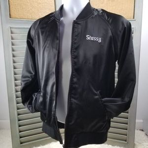 "STUSSY BLACK ZIP-UP ""CALIFORNIA"" Jacket Sz S"